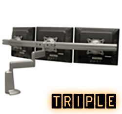 Triple Monitor Mounts, Monitor Mounts for 3 Monitors or TV's