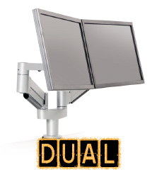 Dual Monitor Mounts, Monitor Mounts for 2 Monitors or TV's