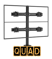 Quad Monitor Mounts & Multi Mounts, Monitor Mounts for 4 or more Monitors
