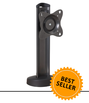 Bolt Down Swivel Table Stand and POS Stand for monitors up to 30 lbs.