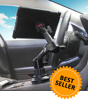 MagConnect iPad Vehicle Mount, Cup Holder Mount