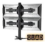 Quad Monitor Desk Mounts, Monitor Mounts for 4 Monitors