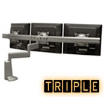 Triple Monitor Desk Mounts, Monitor Mounts for 3 Monitors